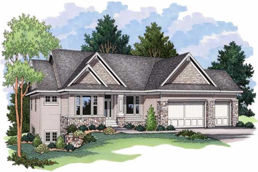Ranch Home Plans CLS-4001 Front Elevation.