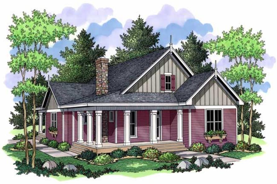 3-Bedroom, 1811 Sq Ft Bungalow House Plan - 165-1105 - Front Exterior