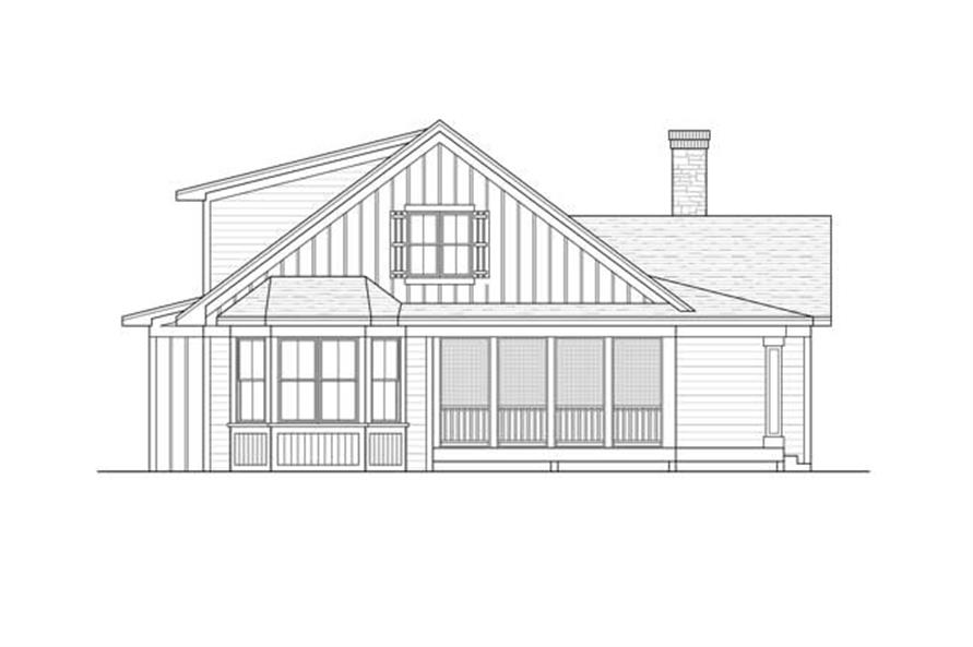 Home Plan Rear Elevation of this 3-Bedroom,1811 Sq Ft Plan -165-1105