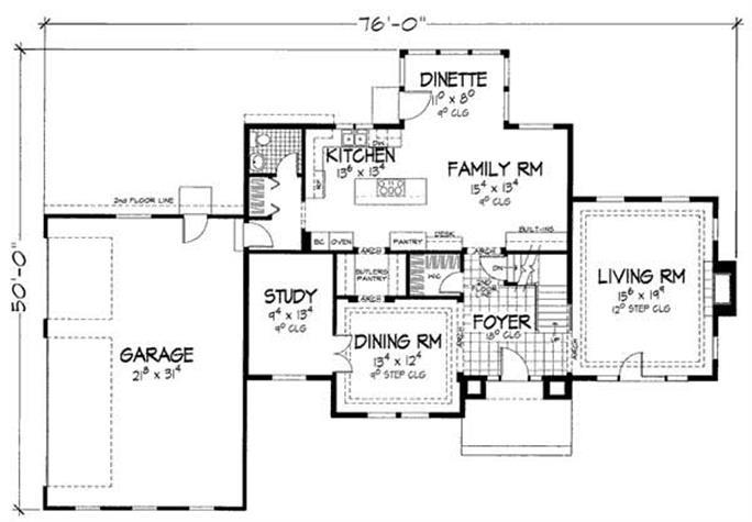 floor plan first story - Designer House Plan 120 165