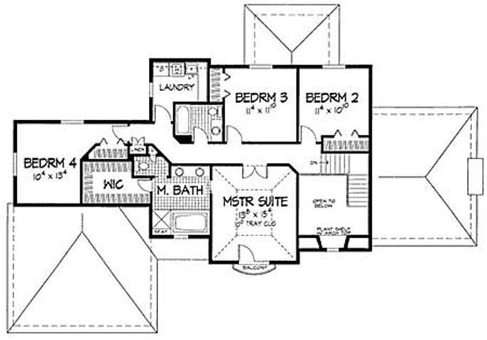 floor plan second story - Designer House Plan 120 165