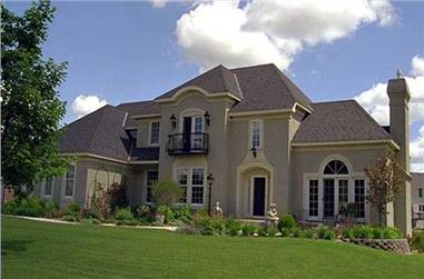 4-Bedroom, 2891 Sq Ft European Home Plan - 165-1106 - Main Exterior