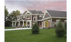 Front elevation of country home plan.