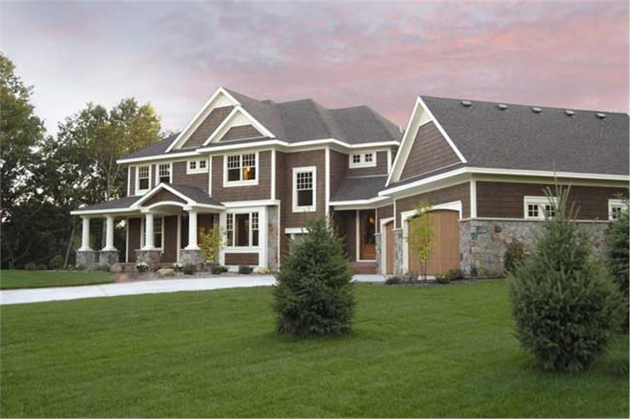 3-Bedroom, 3204 Sq Ft Country House Plan - 165-1107 - Front Exterior