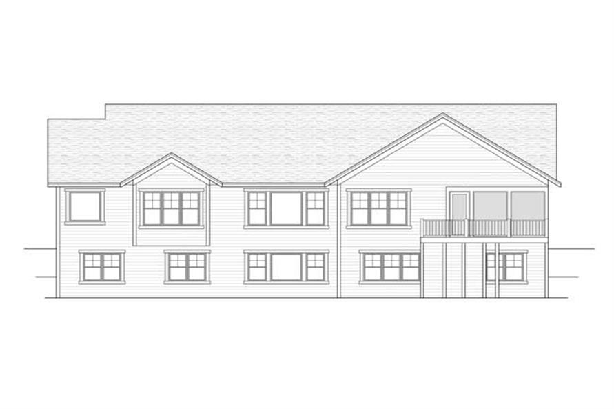 Home Plan Rear Elevation of this 2-Bedroom,2311 Sq Ft Plan -165-1109