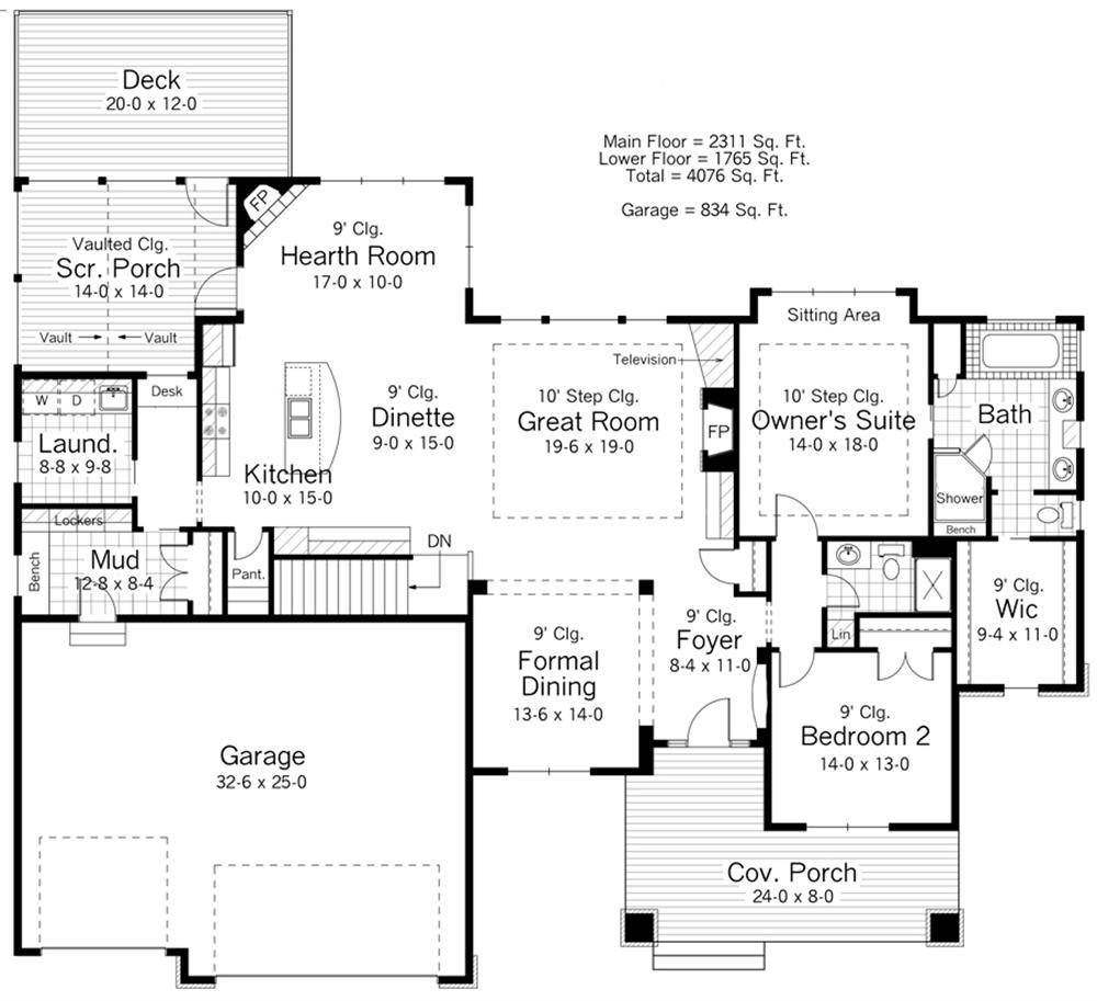 165-1109: Floor Plan Main Level