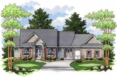 3-Bedroom, 2758 Sq Ft Country Home Plan - 165-1111 - Main Exterior