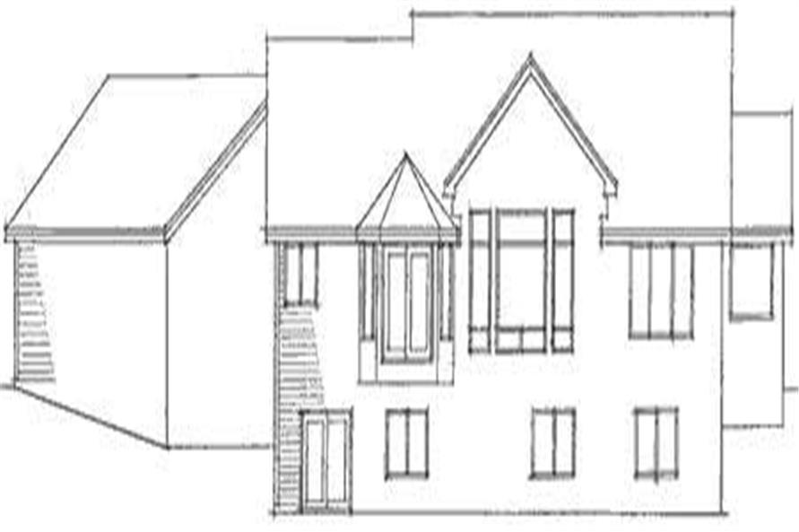 Home Plan Rear Elevation of this 3-Bedroom,2758 Sq Ft Plan -165-1111
