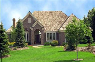 4-Bedroom, 5318 Sq Ft European House Plan - 165-1112 - Front Exterior