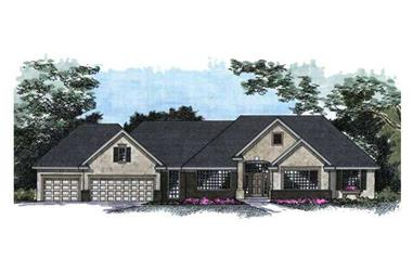4-Bedroom, 4154 Sq Ft Country House Plan - 165-1113 - Front Exterior