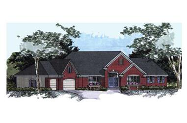 4-Bedroom, 4681 Sq Ft Country Home Plan - 165-1116 - Main Exterior