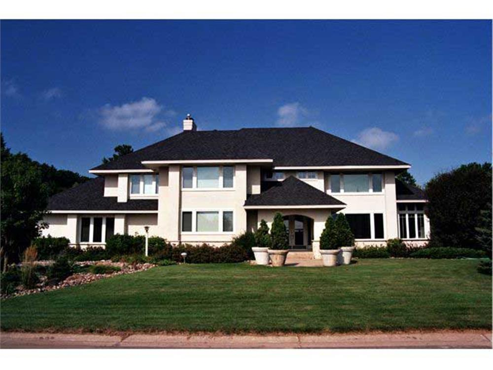 This Photo shows the front elevation of these Feng Shui Houseplans.