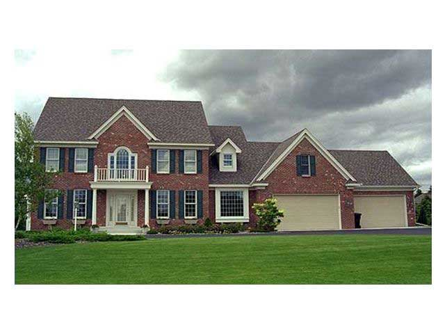 Colonial houseplans home design cls 3205 for Collection master cls