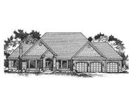 Front elevation image for Ranch Home Plans CLS-4301.