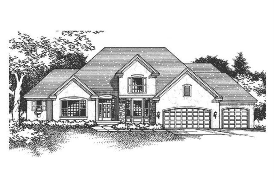 3-Bedroom, 2711 Sq Ft Cape Cod House Plan - 165-1123 - Front Exterior