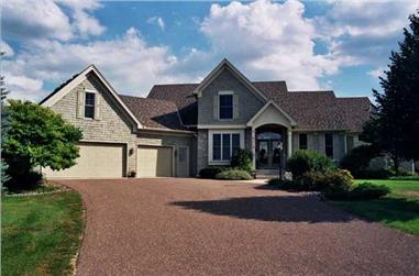 3-Bedroom, 2429 Sq Ft Country House Plan - 165-1125 - Front Exterior
