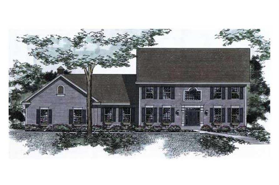 Colonial Homeplans CLS-3100 Colored Rendering.
