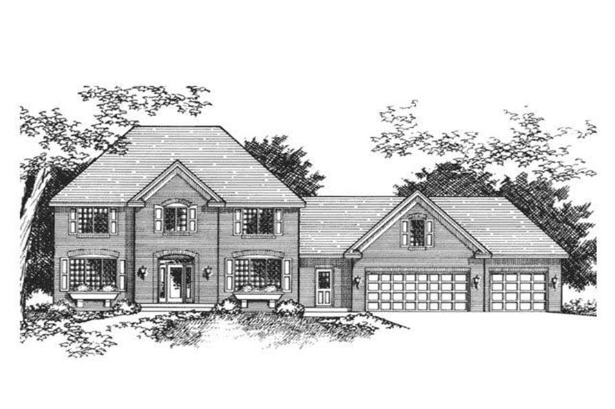 European House Plans CLS-2701 Front Elevation.
