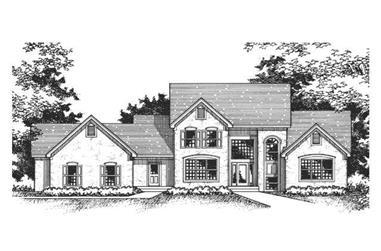 3-Bedroom, 2915 Sq Ft Cape Cod Home Plan - 165-1128 - Main Exterior
