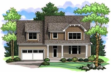 3-Bedroom, 2839 Sq Ft Country Home Plan - 165-1129 - Main Exterior