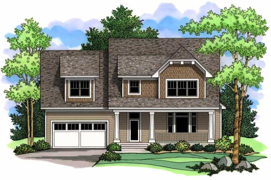 Country Homeplans CLS-2821 front elevation.