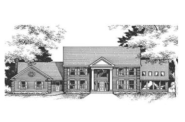 This is the front elevation of these Colonian Home Plans.