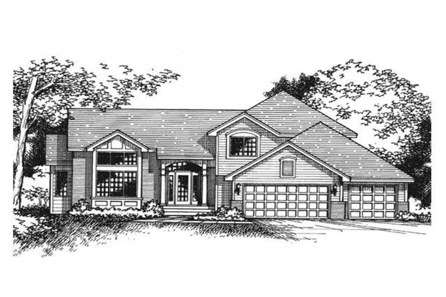 Front elevation of country house plans CLS-2202.