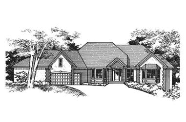 3-Bedroom, 3716 Sq Ft Country Home Plan - 165-1137 - Main Exterior