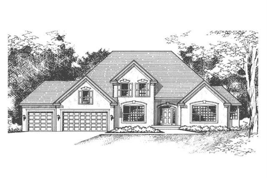 Front Elevation of European Home Plans CLS-2605.