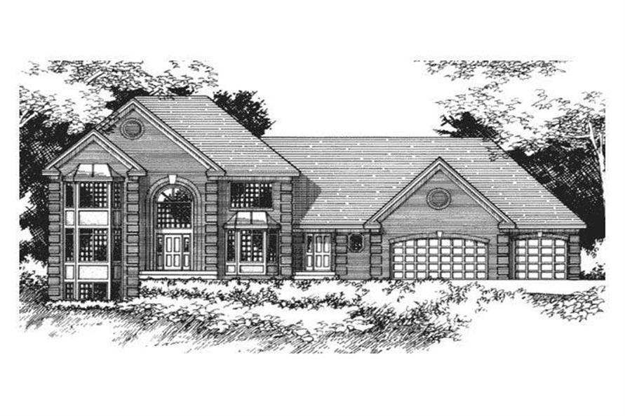 European House Plans CLS-3203 front elevation.