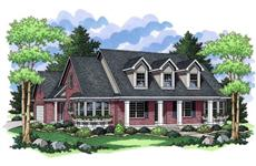 Front Elevation of Country Homeplans CLS-1915.