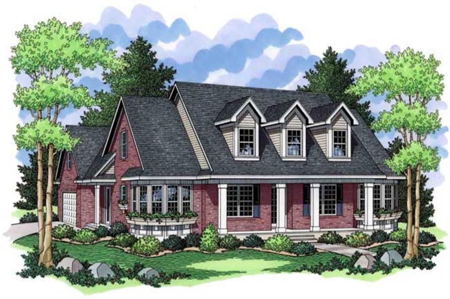 3-Bedroom, 1961 Sq Ft Country Home Plan - 165-1143 - Main Exterior
