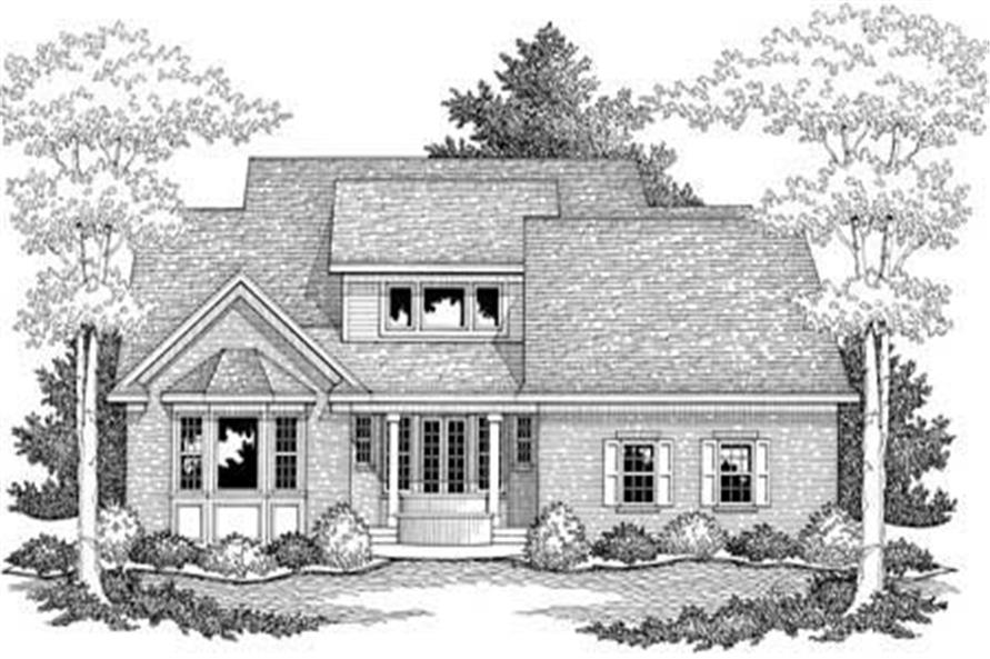 Home Plan Rear Elevation of this 3-Bedroom,1961 Sq Ft Plan -165-1143