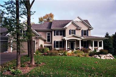 4-Bedroom, 2895 Sq Ft Country Home Plan - 165-1144 - Main Exterior