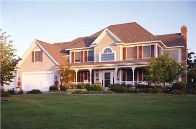 3-Bedroom, 2951 Sq Ft Country House Plan - 165-1145 - Front Exterior