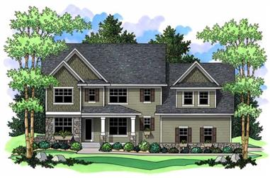 4-Bedroom, 2947 Sq Ft Country Home Plan - 165-1146 - Main Exterior