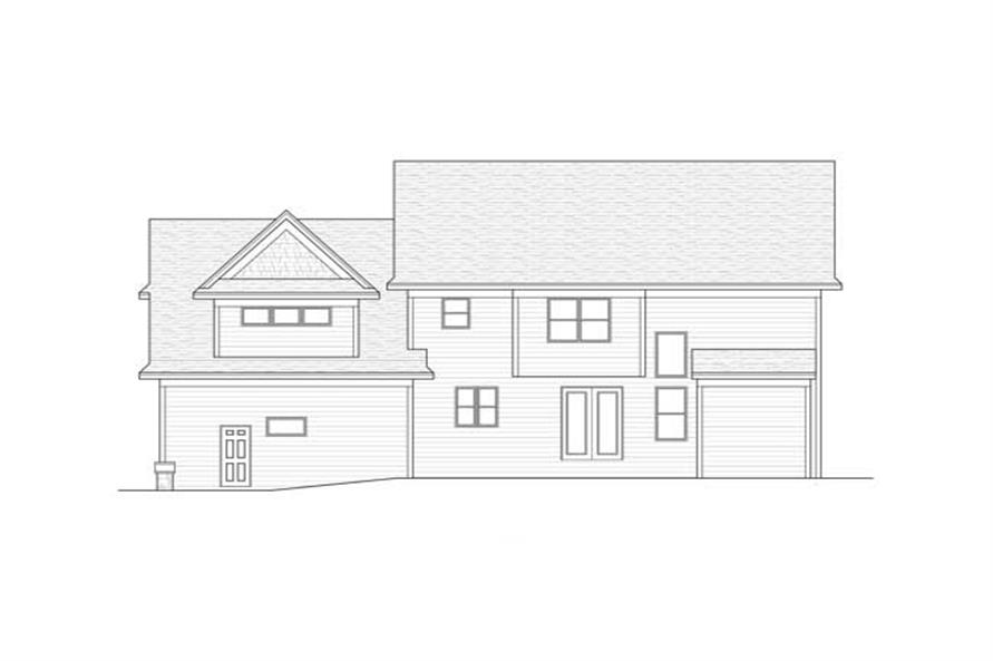 Home Plan Rear Elevation of this 4-Bedroom,2947 Sq Ft Plan -165-1146
