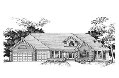 3-Bedroom, 4133 Sq Ft Country House Plan - 165-1149 - Front Exterior