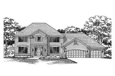 4-Bedroom, 2300 Sq Ft Country House Plan - 165-1150 - Front Exterior