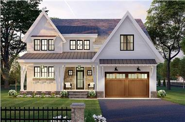 4-Bedroom, 3146 Sq Ft Contemporary House Plan - 165-1151 - Front Exterior