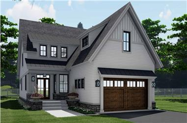4-Bedroom, 2870 Sq Ft Farmhouse House Plan - 165-1152 - Front Exterior