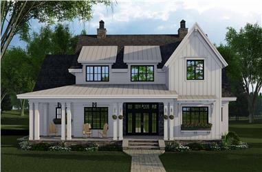 4-Bedroom, 2913 Sq Ft Contemporary Home Plan - 165-1153 - Main Exterior