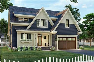 4-Bedroom, 3249 Sq Ft Contemporary House Plan - 165-1155 - Front Exterior