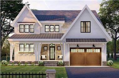 3-Bedroom, 2657 Sq Ft Contemporary House Plan - 165-1156 - Front Exterior