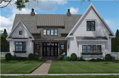 4-Bedroom, 3319 Sq Ft Contemporary Home Plan - 165-1158 - Main Exterior
