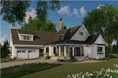 3-Bedroom, 2241 Sq Ft Ranch House Plan - 165-1160 - Front Exterior