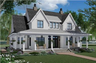 3-Bedroom, 2570 Sq Ft Farmhouse House Plan - 165-1161 - Front Exterior
