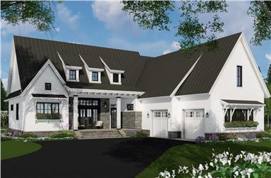 3-Bedroom, 2340 Sq Ft Ranch Home Plan - 165-1162 - Main Exterior