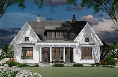 3-Bedroom, 2467 Sq Ft Farmhouse House Plan - 165-1163 - Front Exterior