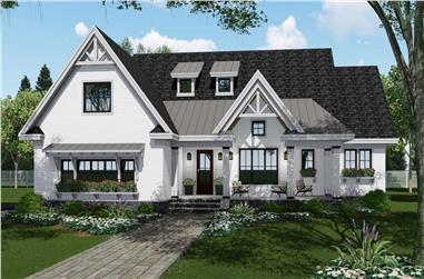 4-Bedroom, 2751 Sq Ft Ranch House Plan - 165-1164 - Front Exterior